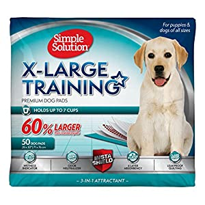 Simple Solution Training Puppy Pads | Extra Large, 6 Layer Dog Pee Pads, Absorbs Up to 7 Cups of Liquid | 28×30 Inches