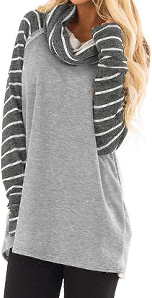 beautyjourney Felpe Donna Tumblr Ragazza Eleganti Donna Grandi Sweatshirt Donna Tumblr Hoodie Maniche Lunghe Maglione Donna Invernale Donna Maglia Cotone Maniche Lunghe