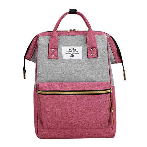 Vintage Laptop Backpack for Women Men-Adjustable Straps,Zip Closure-Anti-Theft Slim Travel-Outdoor Handbag,Hiking& Camping-Large Capacity Wide Open Shoulder Bag-Nursing Nappy Bottle Mummy Bag