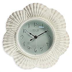 Sterling & Noble Seashell Clock in White -Bettli