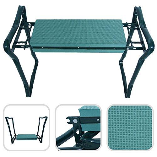 Klappbare Kniebank Gartenbank - komfortable Sitzunterlage aus Schaumkissen mit Füßen aus Stahl