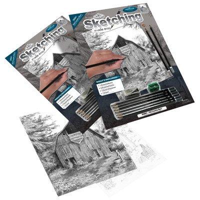 """Bulk Buy: Royal Brush Sketching Made Easy Kit 8.75""""X11.375"""" Old Country Barn SKBN-1 (3-Pack)"""