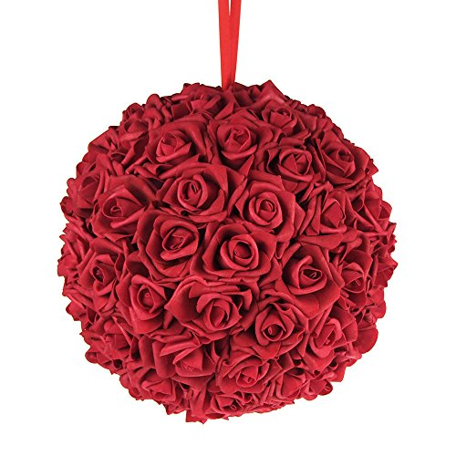 Homeford FNS008565RED Soft Touch Foam Kissing Ball Wedding Centerpiece, 12