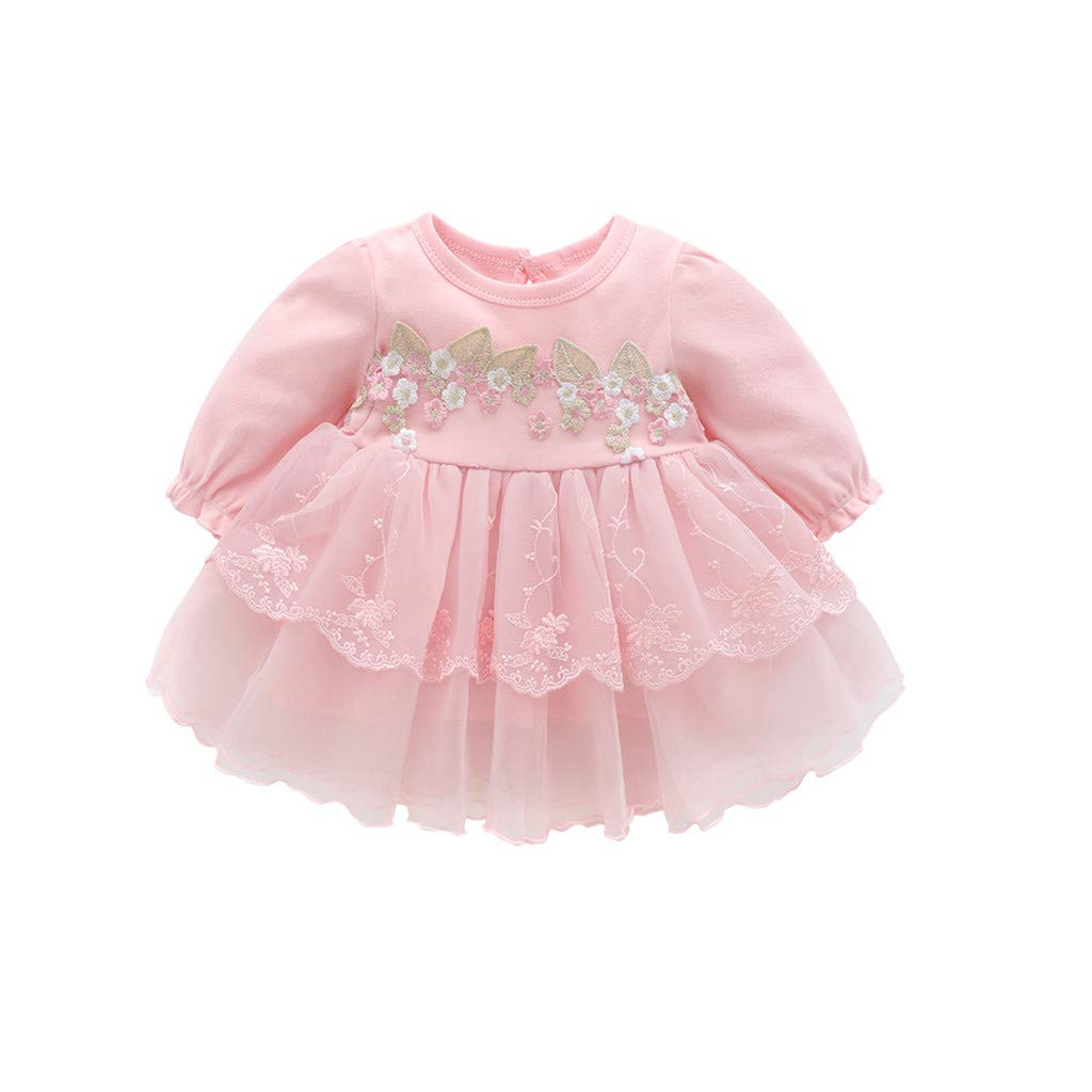 6595b2cb1860 Amazon.com  ❤ Mealeaf ❤ Autumn Infant Baby Kids Girls Party Lace Tutu  Princess Dress Clothes Outfits 0-18 Months  Clothing