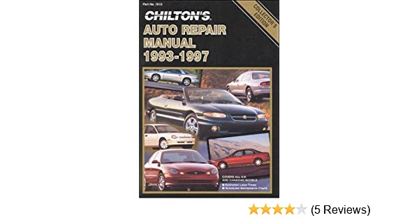 chilton s auto repair manual 1993 97 perennial edition chilton rh amazon com Chilton Auto Repair Manual Book Auto Repair Manuals Chilton 1964-1971