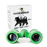 HawkScout Kids Binoculars-8×21- Children's Binoculars for Boys/Girls-High Resolution, Powerful, Compact, Folding Binocular Set with Case & Strap- Bird Watching, Hunting, Camping, Nature Exploration