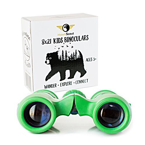 HawkScout Kids Binoculars-8x21- Children's Binoculars for Boys/Girls-High Resolution, Powerful, Compact, Folding Binocular Set with Case & Strap- Bird Watching, Hunting, Camping, Nature Exploration