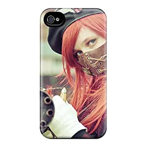 Excellent Design Cosplay Girl Phone Case For Iphone 4/4s Premium Tpu Case
