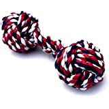 Mary & Kate Pets XL Dog Rope Toy for Aggressive CHEWERS - Puppy Chew Knots - Heavy Duty - Sturdy - Durable - 100% Cotton - Cleans & FLOSSES Teeth - Free Replacement (X-Large, Blue Red)