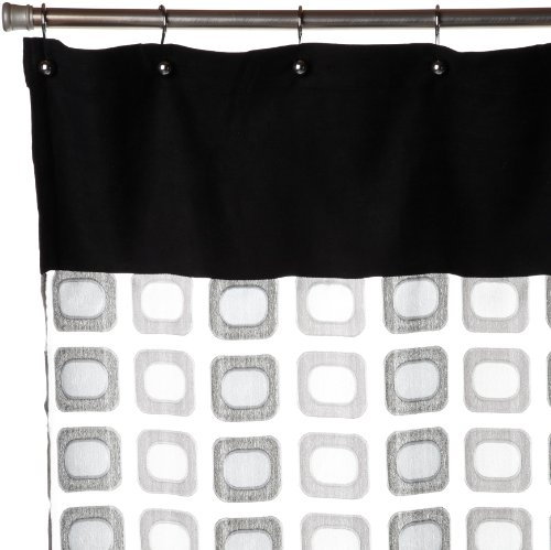 Curtains Ideas black sheer shower curtain : Amazon.com: Regal Home Collections Times Square Sheer Shower ...