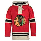 NHL Chicago Blackhawks Men's Lacer Heavyweight Hoodie, X-Large, Red