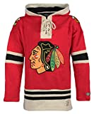 vintage hockey - NHL Chicago Blackhawks Men's Lacer Heavyweight Hoodie, Large, Red