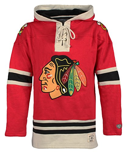 Chicago Blackhawks Men's Lacer Heavyweight Hoodie, Small, Red ()