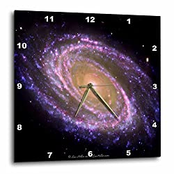 Lee Hiller Designs Space - In the Cosmos - Violet Spiral Galaxy - 13x13 Wall Clock (dpp_61641_2)