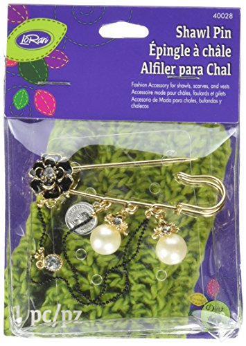 Dritzsilver con fiore nero e small Chain Shawl pin-, altri, multicolore