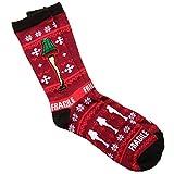 A Christmas Story Fragile Leg Lamp Ugly Sweater Adult Crew Socks