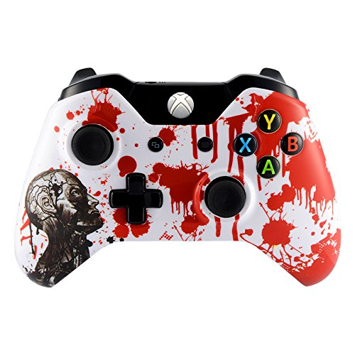 Faces Zombie - eXtremeRate Zombie Blood Front Upper Shell Face Plate Replacement Parts For Standard Xbox One Controller With and Without 3.5 mm jack
