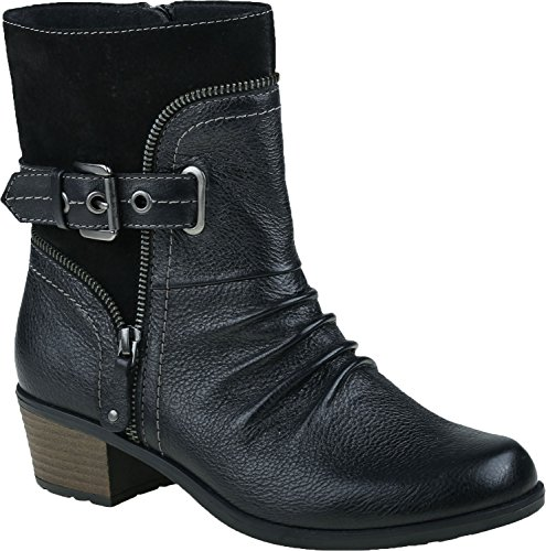 Earth Origins Women's Black Dolly 9 Wide US (Earth Leather)
