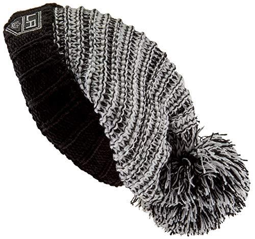 OTS NHL Los Angeles Kings Female Sansa Cuff Knit Cap, Black, Women's
