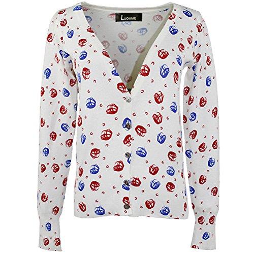 Luomme™ Damen Strick Short Cardigan One Size (EU Größe XS-M) Color-87
