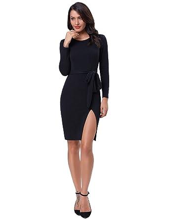 Accesorios para un vestido negro cuello redondo