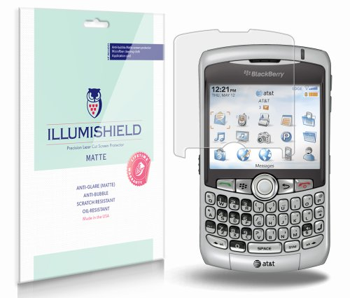 BlackBerry Curve 8320 Screen Protector (8300,8310)[3-Pack], iLLumiShield - Anti-Glare (Matte) HD Clear Film/Anti-Bubble & Anti-Fingerprint/Japanese Shield