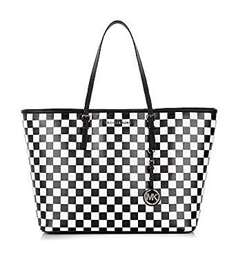 Neueste Mode Sonderrabatt suche nach neuestem Michael kors Handtasche, kariert, Schwarz - Weiß / Schwarz ...