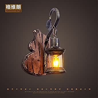 JhyQzyzqj Wall Sconce Wall lights Simple modern staircase creative atmosphere living room bedroom bedside lamp hotel corridor aisle Loft coffee wooden arts wall lights