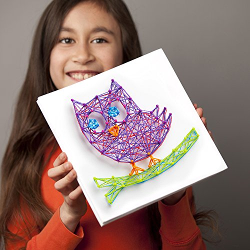 51P5Y98cZuL - Craft-tastic – String Art Kit – Craft Kit Makes 3 Large String Art Canvases – Owl Edition