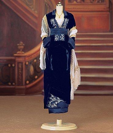 Franklin Mint Titanic Blue Gown Ensemble For The Titanic Female Rose Vinyl Doll