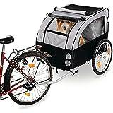 Karlie 31617 - Doggy Liner 1 Remorque de vélo en téflon pour chien Noir/gris 158 x 80 x 86 cm