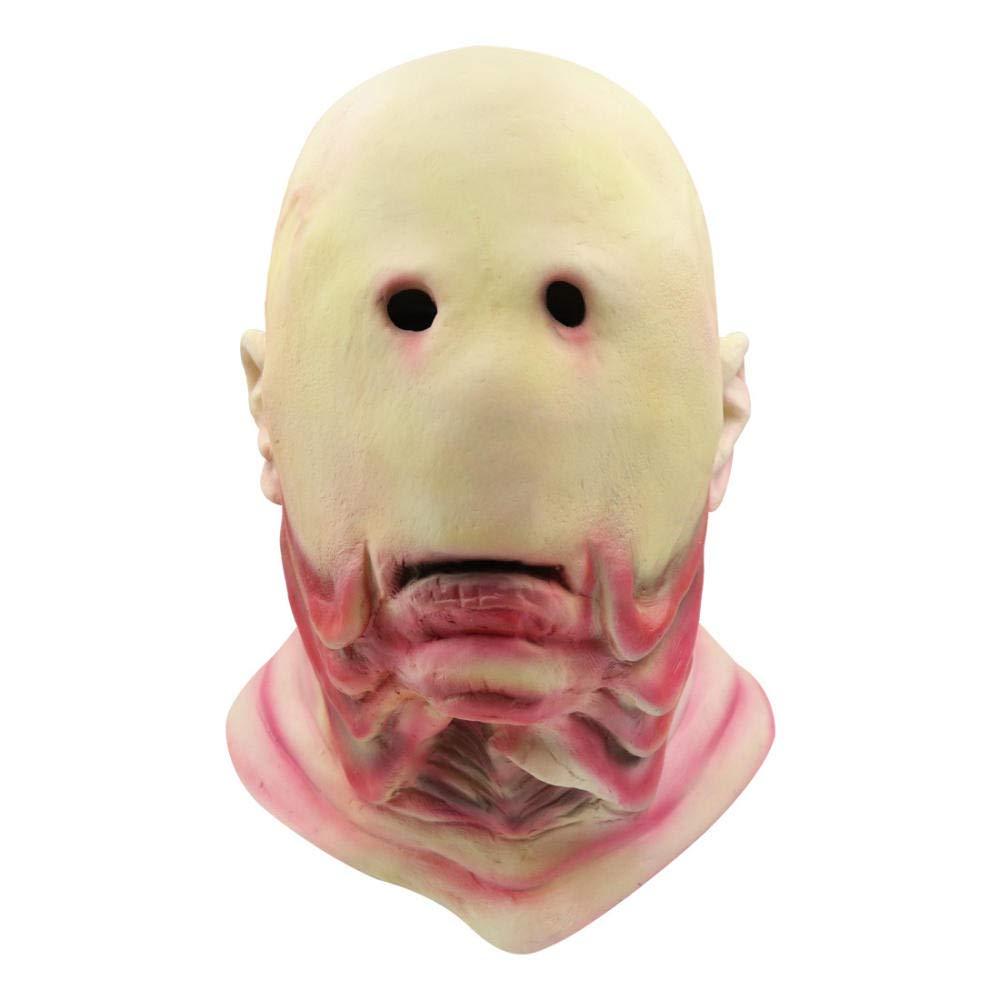 HMHH Maschera di Halloween Maschera Senza Occhi in Lattice Maschera di Halloween Realistica novit/à Costume da Festa Maschera in Maschera per Adulti