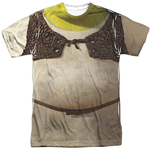 (Shrek Costume Mens Sublimation Shirt Multicolor)