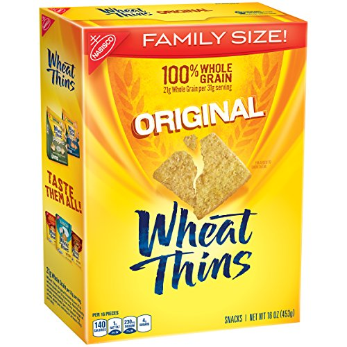 Wheat Thins Crackers (Original, 16-Ounce Boxes, 6-Pack)