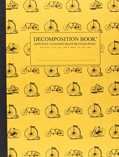 Vintage Bicycles Decomposition Book: College-ruled Composition Notebook With 100% Post-consumer-waste Recycled Pages
