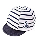 Jewby Newborn Handmade Hat, Cotton Soft Cap For Babies 3-12 Months (Blue)