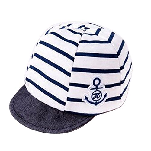 Blue 3 Cap - Jewby Newborn Handmade Hat, Cotton Soft Cap For Babies 3-12 Months (Blue)