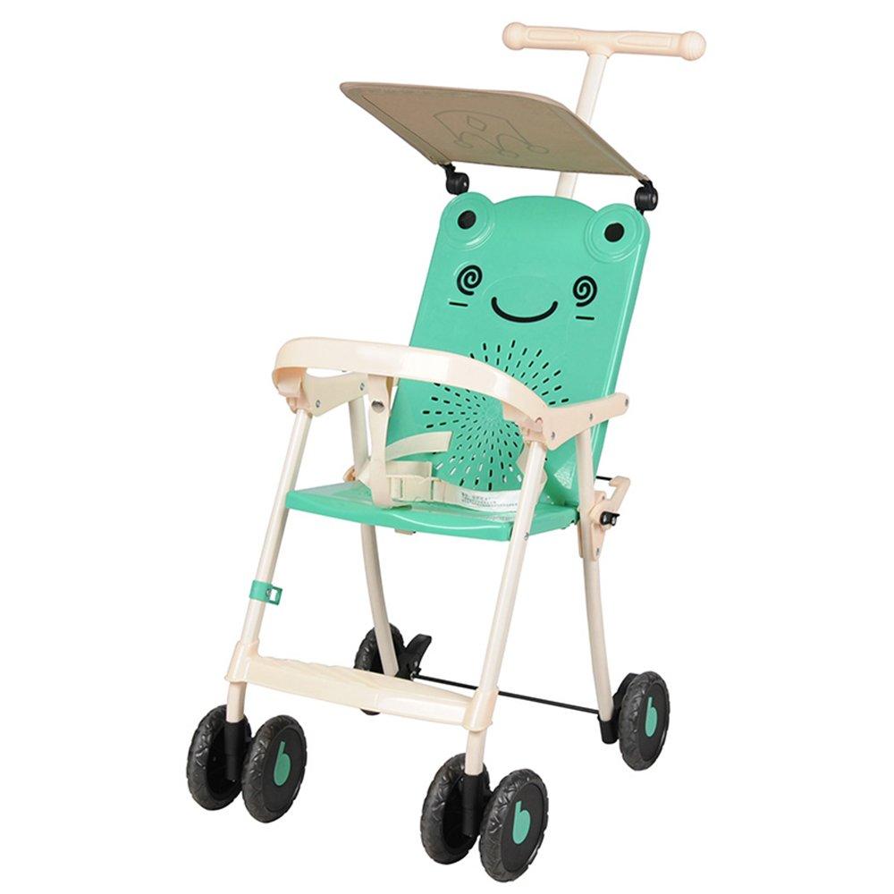 HAIZHEN マウンテンバイク 子供のトロリーを運ぶために軽量で簡単な赤ちゃんのストロークアーティファクト736ヶ月間のピンク 新生児 B07CG7Y7KL緑