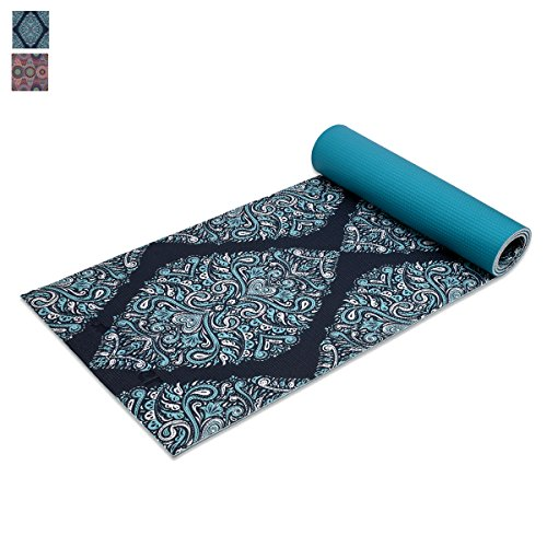"Trideer Premium Printed Yoga Mat, 1/four"" Extra Thick Non-Slip Eco-friendly Anti-Tear 6mm Floor Pilates Exercise Mat for Yoga, Exercise, Fitness with Carrying Strap – DiZiSports Store"