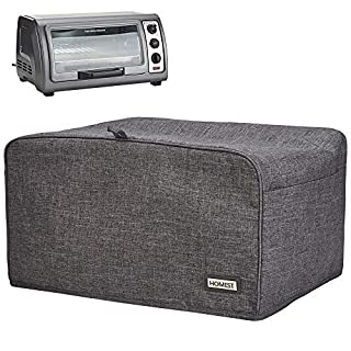 HOMEST Toaster Oven Dust Cover with Accessory Pockets Compatible with Hamilton Beach 6 Slice of Toaster Oven, Grey