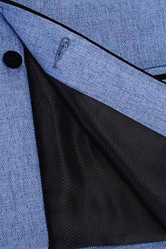 Azzurro Waistcoat Colori nbsp;uomo 15 Wintage Rayon Nehru Festive Vest vxqz8