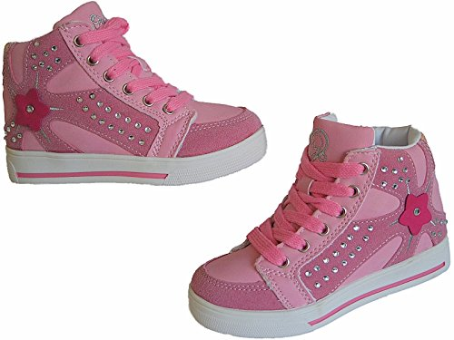 HIGH TOP Sneaker Mädchen Kinder Knöchelschuhe gr.25-36 art.nr.805/06 pink
