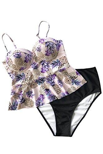 Cupshe Fashion Women's Always Be You Falbala Bikini Set Beach Swimwear Bathing Suit - Swimsuits You For Fit