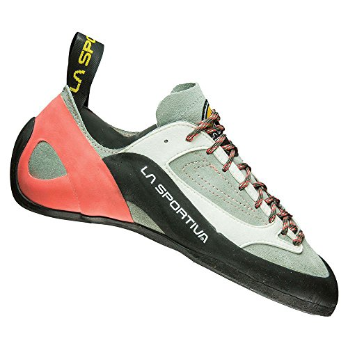 La Sportiva Finale Women's Climbing Shoe, Grey/Coral, 39.5