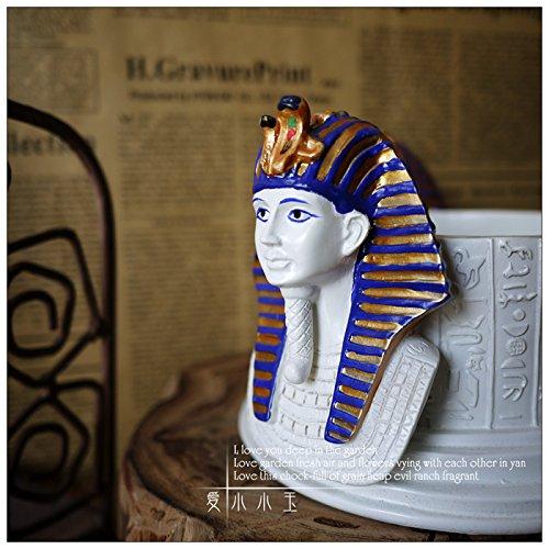 XOYOYO Máscara de Oro del faraón Tutankhamon Cenicero creativas Artesanías adornos adornos de carácter Egipto: Amazon.es: Hogar