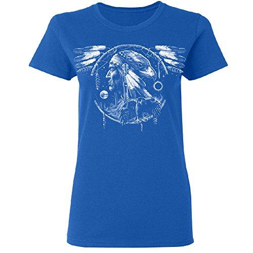 War Eagle Dakota Leader Women's T-shirt Brand New Tee Royal Blue Large (Leader New T-shirt)