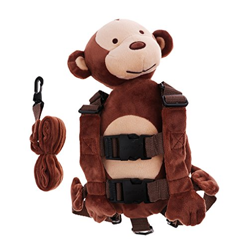 (Dolity Baby Kids Anti-Lost Strap Plush Walking Belt Safety Harness Leash Backpack - Monkey, as described)