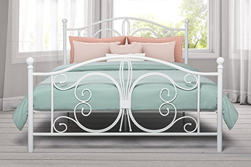 DHP 3246198 Bombay Metal Bed, Full, White