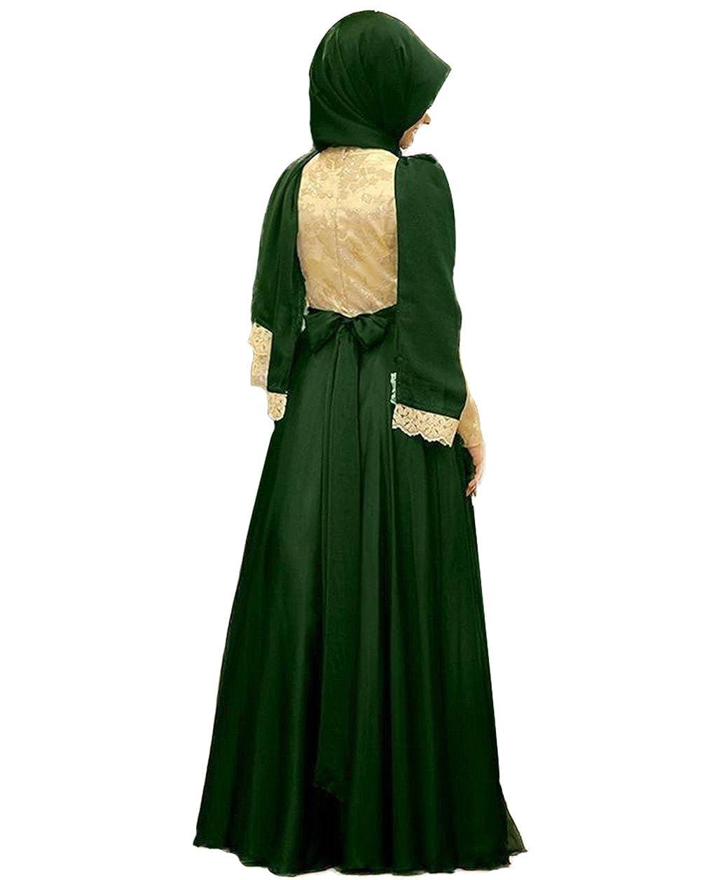 Amazon.com: Oyeahbridal Purple Formal Muslim Women Dress Hijab Kaftan Bow Evening Prom Gowns: Clothing