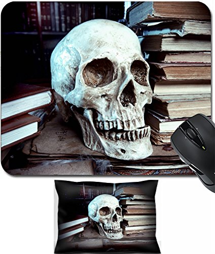 MSD Mouse Wrist Rest and Small Mousepad Set, 2pc Wrist Support design 31913317 Medieval alchemist laboratory Halloween Fairy tale interior -